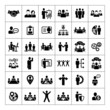 Zdjęcia na płótnie, fototapety, obrazy : Human resources and management icons set