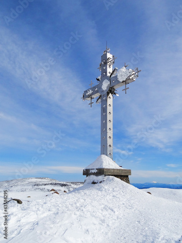 Cross at mountain top