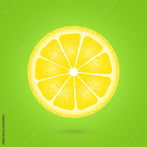 Lemon icon on a green
