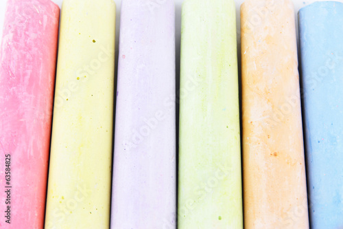 Chalks in variety of colors, close-up