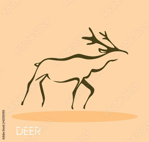 Deer - vector illustration