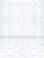 Empty interior with ceramic tile