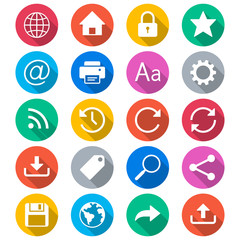 Web flat color icons