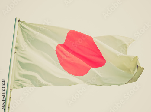 Retro look Japanese flag