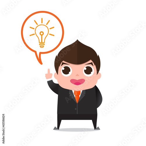 businessman figure out cartoon