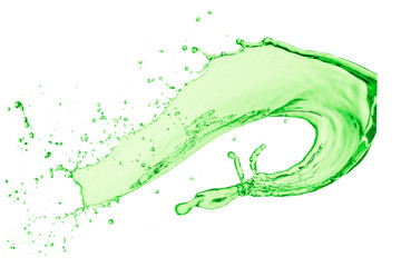 green liquid splash