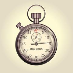 Classic retro stopwatch illustration