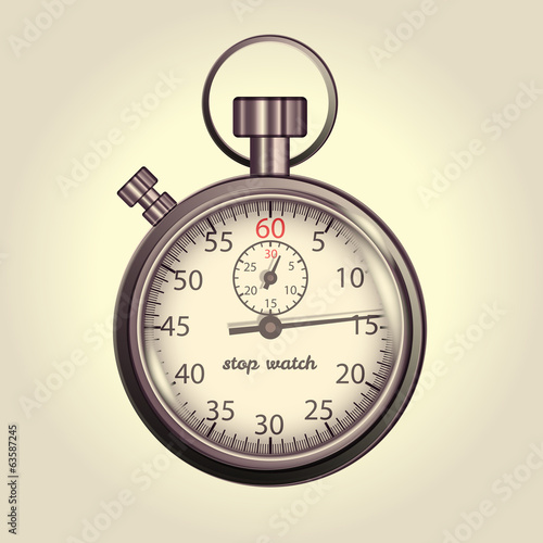 Classic retro stopwatch illustration