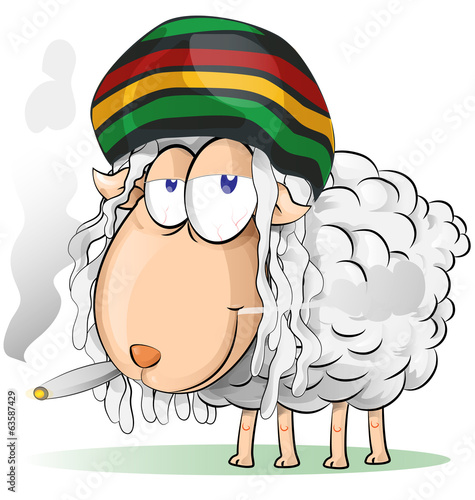 crazy jamaican sheep cartoon