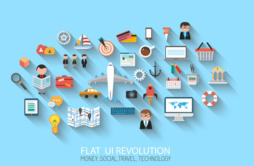Flat Style UI Icons to use for your business projec