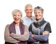 Gruppe von Senioren lächelt glücklich
