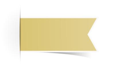 Schild Aufkleber braun