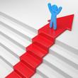 Karrieretreppe Aufstieg