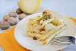rigatoni and nuts cream