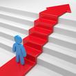 Karrieretreppe Mut zum Erfolg