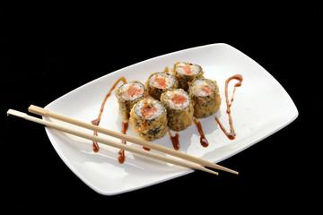 Sushi roll,comida japonesa.