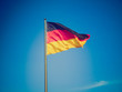 canvas print picture - Retro look German flag