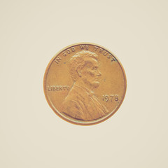 Retro look Coin isolated