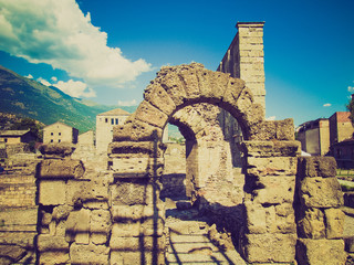 Retro look Roman Theatre Aosta