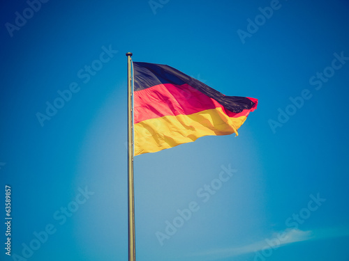 canvas print picture Retro look German flag