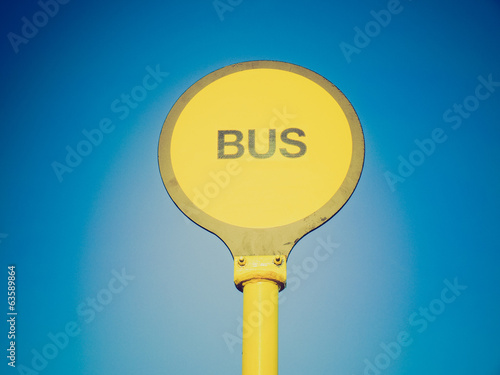 Retro look Bus stop