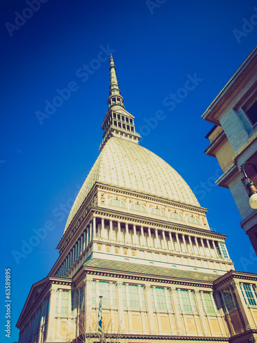 Retro look Mole Antonelliana, Turin