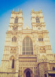 Retro look Westminster Abbey