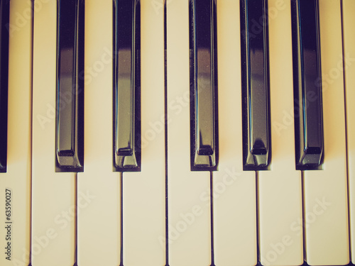 Retro look Music keyboard keys