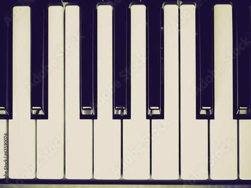 Retro look Music keyboard