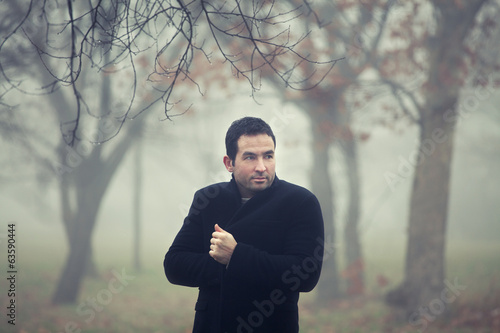 Man in a park