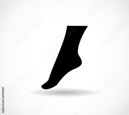 Woman foot icon vector