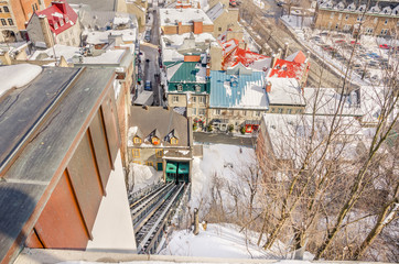 Quebec City's Lower Town and the Funicular