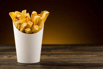French fries packaging paper