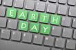 Earth day on keyboard