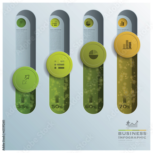 Business Infographic Circle Button Tube