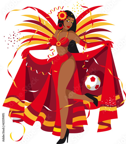 Spanish soccer fan