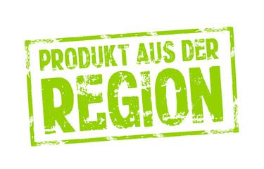 Stempel mit Produkt aus der Region