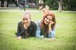 Two Girls at Park in Tallinn