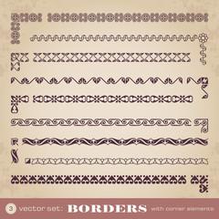 Borders with corner elements - set 3