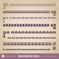 Borders with corner elements - set 4