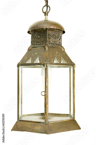 old morocco metal lantern