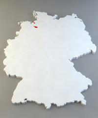 Mappa Germania, regione tedesca, Bremen
