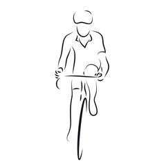 Radfahrer auf dem Rennrad - vektor