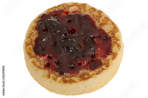 Toasted Crumpet with Jam