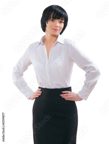 asian businesswoman isolated
