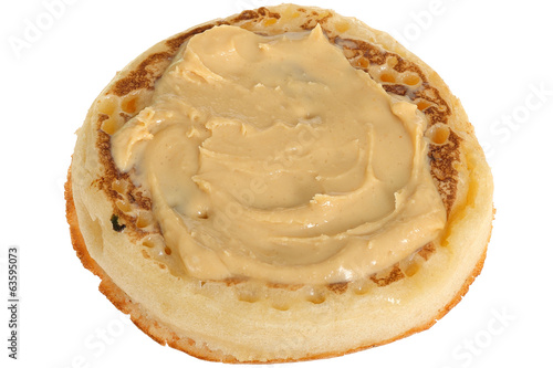 Toasted Crumpet with Peanut Butter