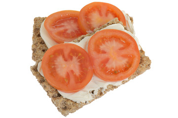 Tomato and Soft Cheese Crackers