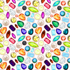 gemstone seamless pattern. EPS 10. no gradient, without transpar
