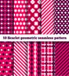set of ten geometric pattern