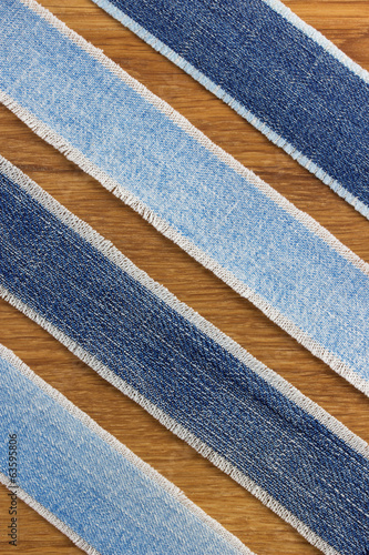 jeans strips at wood